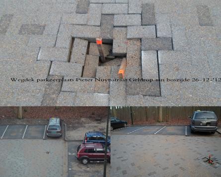 Gat in de parkeerplaats P. Nuytsstraat