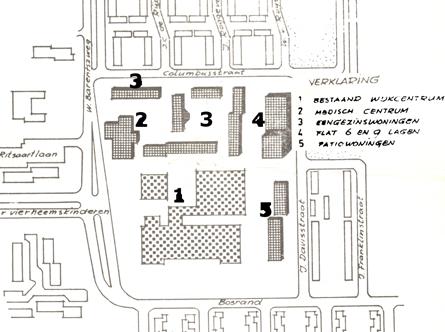 Kaart centrum Coevering uit 1975