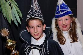 Prins Bas d'n Urst en Adjudant Senna van Jeugd Carnavals Vereniging De Dreevers 2013