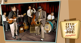 Swing Party met 5 Guys Named Joe in Wijkcentrum De Dreef