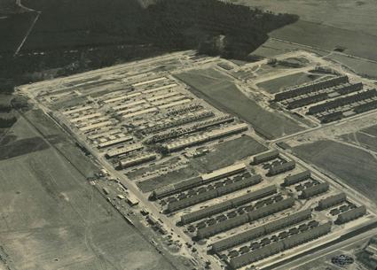 Luchtfoto Coevering uit 1969