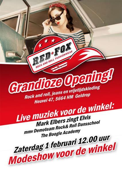 Opening nieuwe Rock&Roll Red Fox winkel in Geldrop 2014