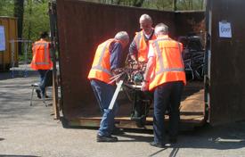 Containeractie in kader van Samen Werkt 2013.