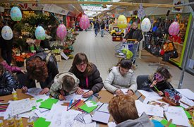 Paassfeer in Winkelcentrum Coevering 2013