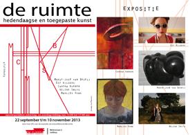 1e expositie in 1e lustrumjaar in 'de ruimte' in Geldrop start op zondag 22 september.